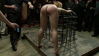 Strung up naked and whipped Thumbnail