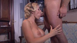 MILF with huge tits blowing the meat flute Thumbnail