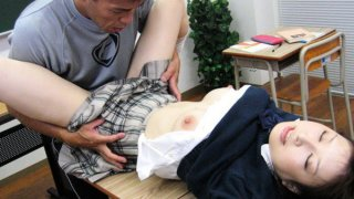 After school lessons with horny Japanese teen Runna Sakai Thumbnail
