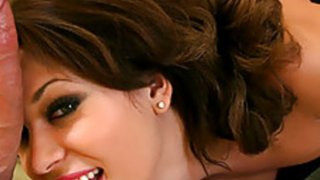 Ashley Coda Takes Spunk on Her Chin in Gloryhole Thumbnail