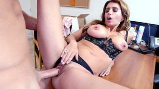 Mia Ryder in a black lingerie having sex for the first time on camera Thumbnail