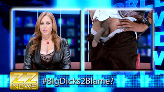 Julia Ann sucking big black cock on live television Thumbnail