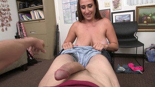 Skyler Luv loves to take his cock all the way to the back of her throat Thumbnail