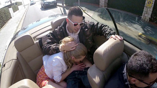 Lolly Gartner sucks dick on the backseat in the cabrio Thumbnail