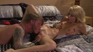 Monique Alexander gets licked by tattooed dude Thumbnail