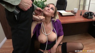 Abbey Brooks gets a hardcore lesson of good manners by her boss Thumbnail