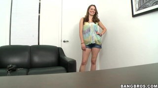 Melissa Moore is at the casting showing kinky nature