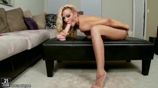 Sandy masturbating and having fun with a big dildo Thumbnail