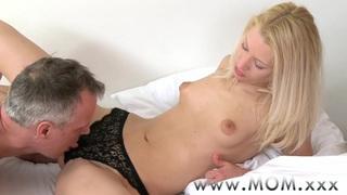 MOM Blonde MILF rides big cock Thumbnail