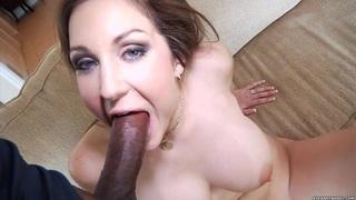 Kiera King spreads her lips round this hard dick Thumbnail