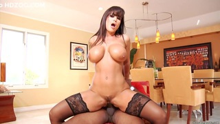 Lisa Ann rides her tight pussy on this massive shaft
