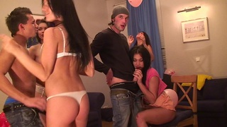 Jocelyn & Key & Margo & Black Panther & Nicole B & Twiggy in hot student girls getting fucked by aroused dudes Thumbnail