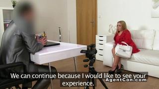 Blonde amateur bbw banged on casting Thumbnail