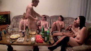 Dana & Janet Haven & Kristine Crystalis & Sonja in naked students enjoying hardcore and oral sex Thumbnail