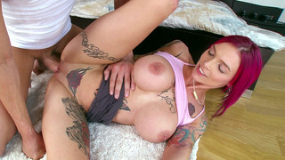 Monster boobed Anna Bell Peaks gets her dick fix Thumbnail