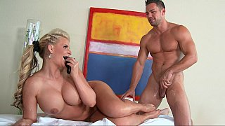 All oiled big titted Pornstar in action Thumbnail