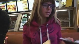 She Is Nerdy  Cum shower on her eyeglasses Thumbnail