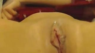 Brunette Cums on Dildo Thumbnail