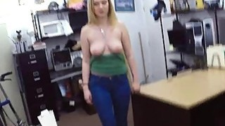 Amateur blonde chick goes to a pawnshop and gets fucked hard Thumbnail
