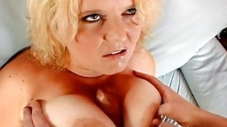 Breasty babe is having enjoyment with a dildo Thumbnail