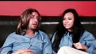 hot asian babe rides cock Thumbnail