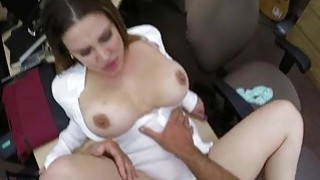 Big tits business lady fucked by pawnman Thumbnail