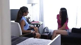 Alaina Kristar and Soffia Rivera hot FFM with nasty dude