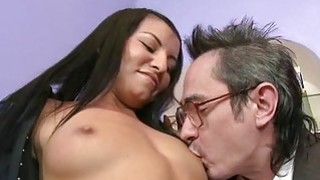Older teachers are getting blowjob from sweetheart Thumbnail