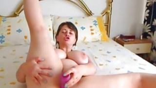 Amazing babe with big tits deep toying pussy on webcam Thumbnail