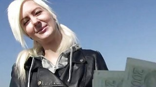 Sexy Czech girl Lenny analyzed outdoors Thumbnail