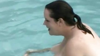 Bbw Plays Fat Naked In Swimmig Pool Thumbnail