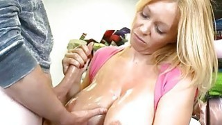 Teen slut truly loves making handjobs very much Thumbnail