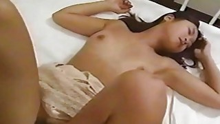 Asian slut is on two cocks working them hard Thumbnail