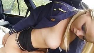 Stewardess Christen Courtney fucked at the back Thumbnail