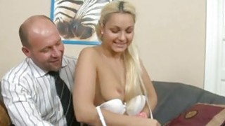 Babe receives her cookie ravished by teacher Thumbnail