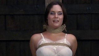 Gagged beauty with clamped teats acquires wild joy Thumbnail