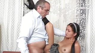 Babe gets her lovely wet crack ravished by teacher Thumbnail