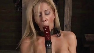 Masked beauty with nude cunt receives flogging Thumbnail