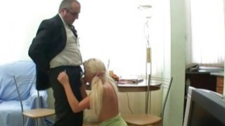 Mature teachers are getting oral job from babe Thumbnail