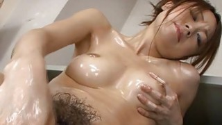Japanese with sexy breasts masturbates with toys Thumbnail