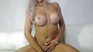 Horny blondie dildo riding At Home Thumbnail