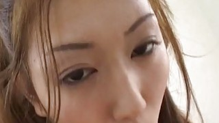 Asian milf sucks hard cock for a load of cum on her face Thumbnail