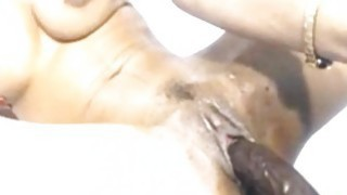 Toying With Black SexToy On Webcam Thumbnail