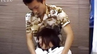Chiharu gives hot blowjob at office Thumbnail