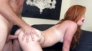 Beautiful and slut is a huge fan of cockriding Thumbnail