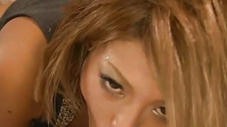 Japanese with sexy melons amazes with blowbang Thumbnail
