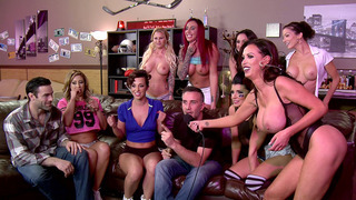 Eva Notty, Jada Stevens, Nikki Benz, and Romi Rain have lots of fun Thumbnail