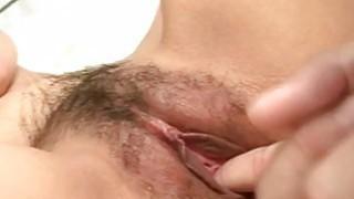 Rei Serizawa fucked in serious threesome cam show Thumbnail