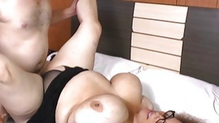 AgedLove chubby brunette horny man and bed great c Thumbnail