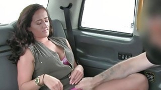 Lady in pink underwear banged in the cab Thumbnail